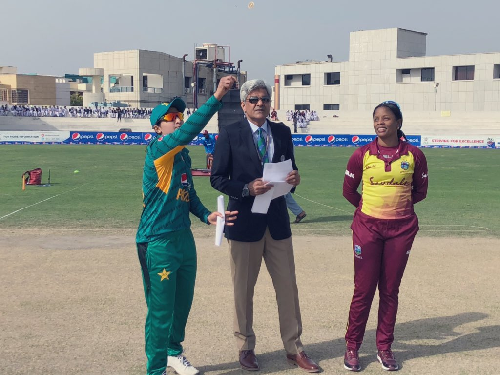 West Indies Women won the toss and elected to bat first against Pakistan in Karachi | CWI Twitter