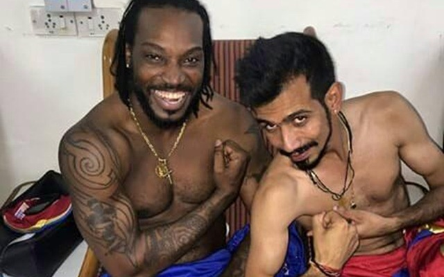 Chris Gayle and Yuzvendra Chahal | Twitter (FILE PIC)