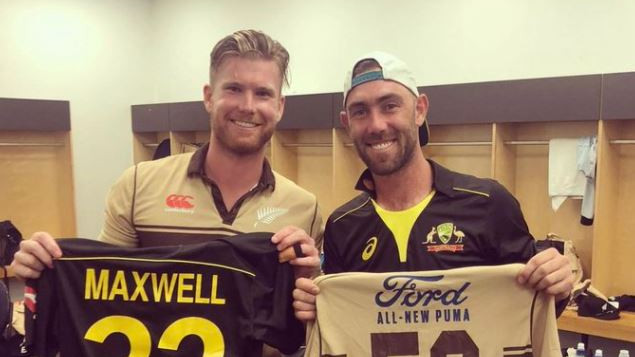 Jimmy Neesham and Glenn Maxwell engage in a hilarious conversation
