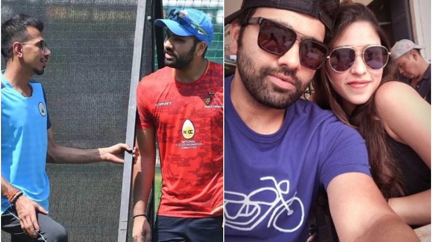 Yuzvendra Chahal takes a jibe at Ritika Sajdeh by posting a picture with Rohit Sharma