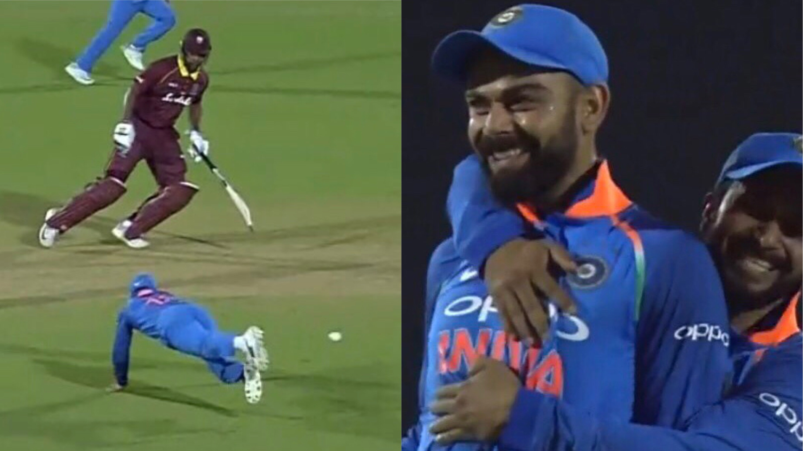 IND v WI 2018: Watch- Virat Kohli runs out Kieran Powell with a backhand flick