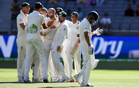 Indian batsmen including Kohli are finding it hard to combat Nathan Lyon in the ongoing Test series | Getty