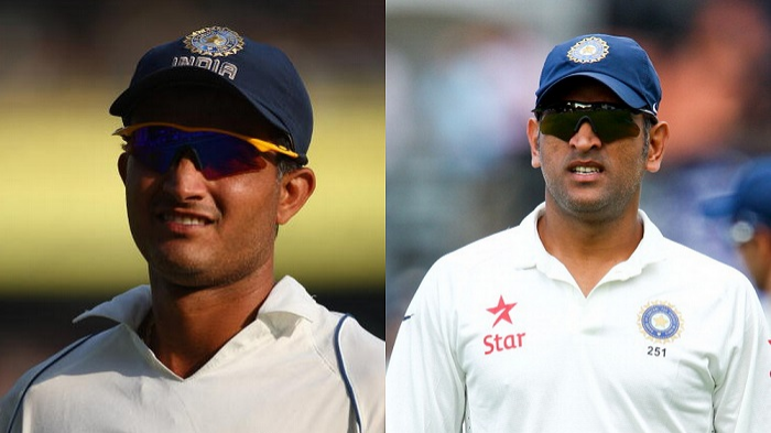 Sourav Ganguly questions MS Dhoni's Test captaincy achievements