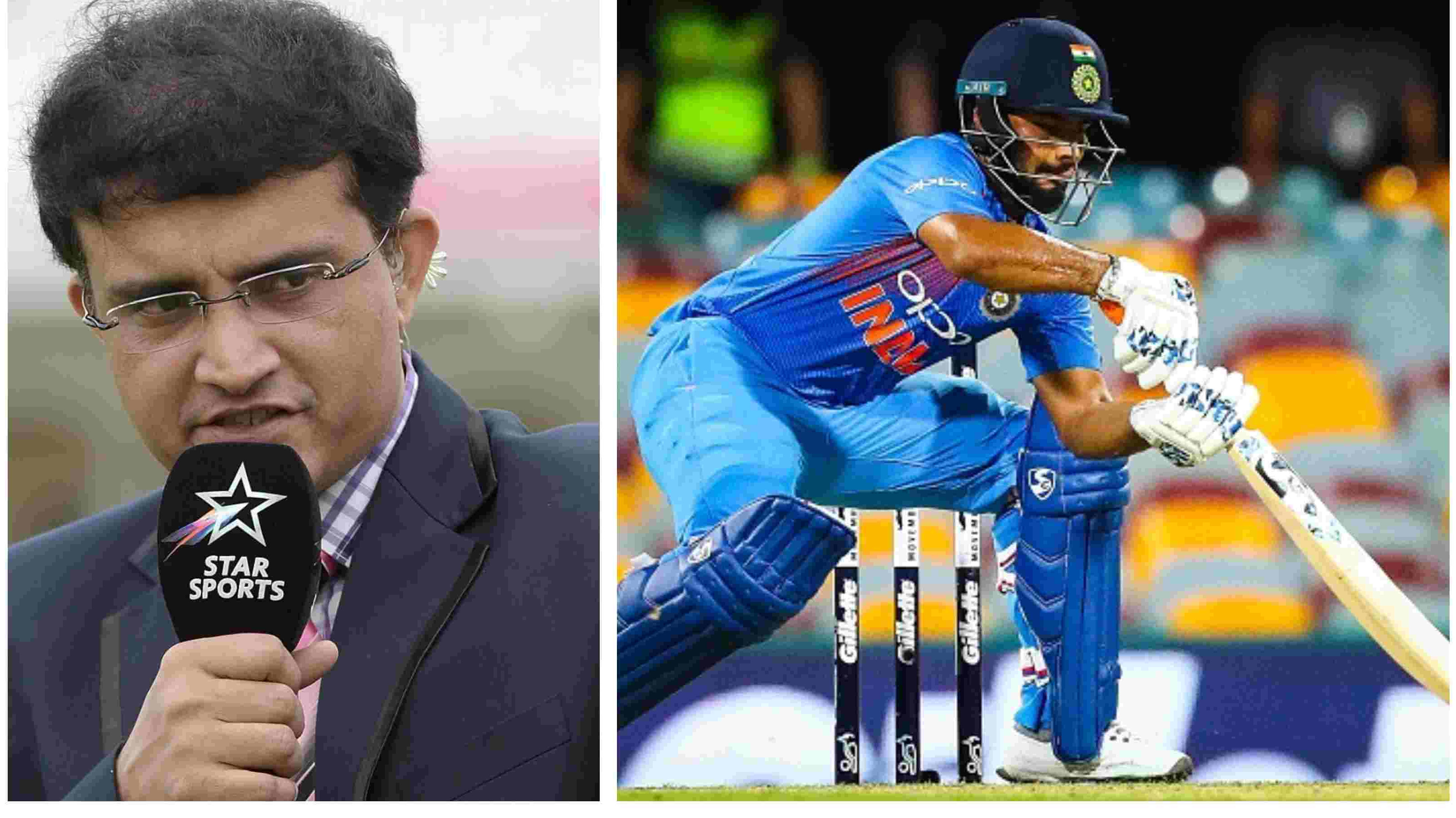 AUS v IND 2018-19: Sourav Ganguly urges Rishabh Pant to work on his poor shot selection