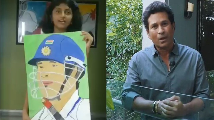 Sachin Tendulkar impressed with a 7-year-old fan's painting of him