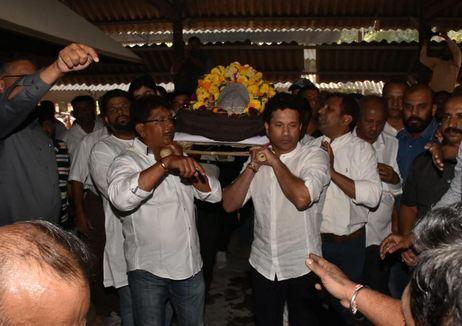 Sachin Tendulkar and Chandrakant Pandit | timesnow,com/Debasish Chakraborty
