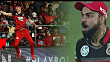 WATCH: Virat Kohli couldn't stop praising AB de Villiers' catch against Sunrisers Hyderabad