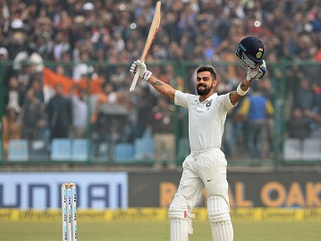 Virat Kohli was chosen as captain of ICC Test team of the year