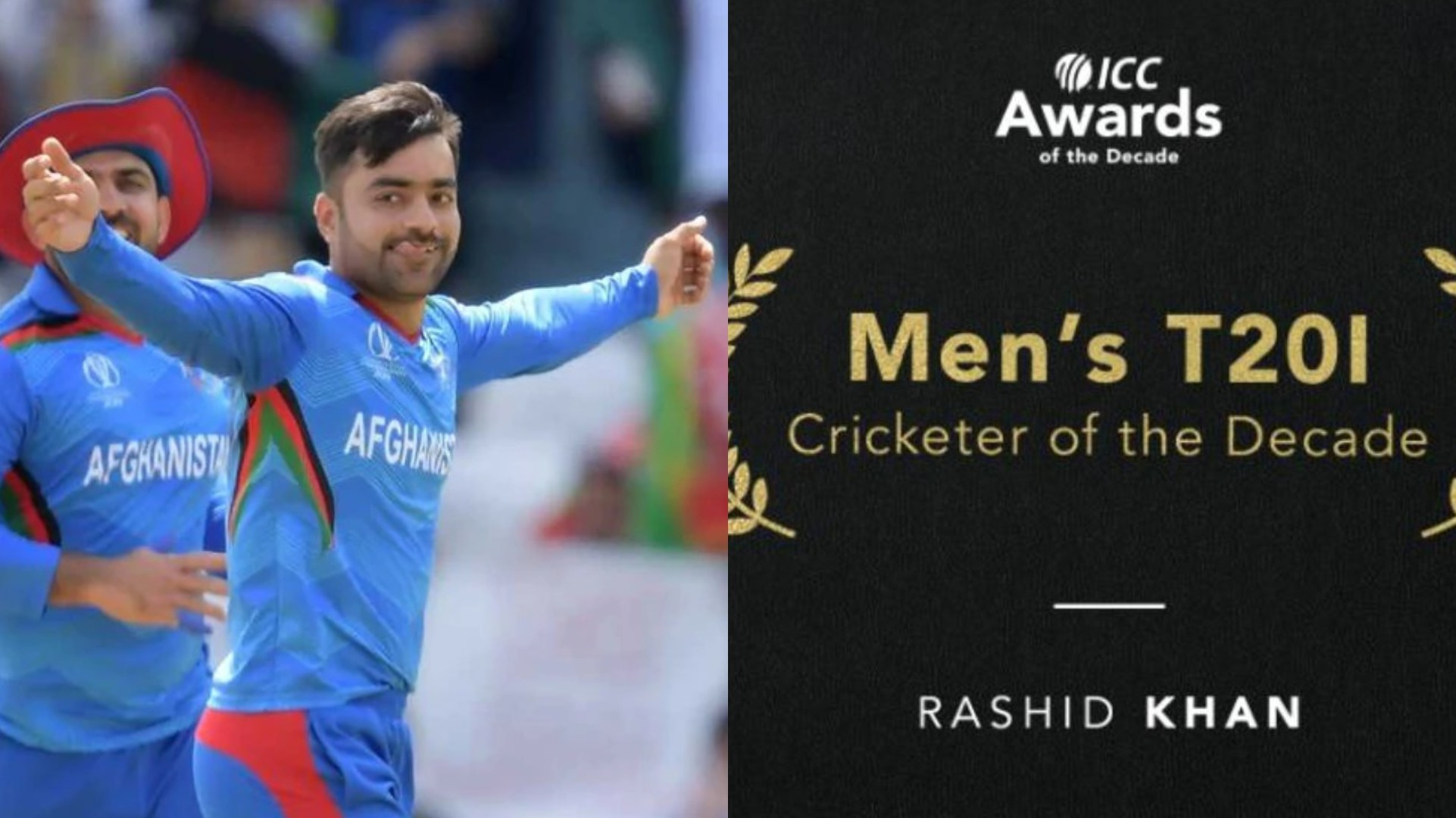 ICC names Rashid Khan as the Men's T20I Cricketer of the Decade