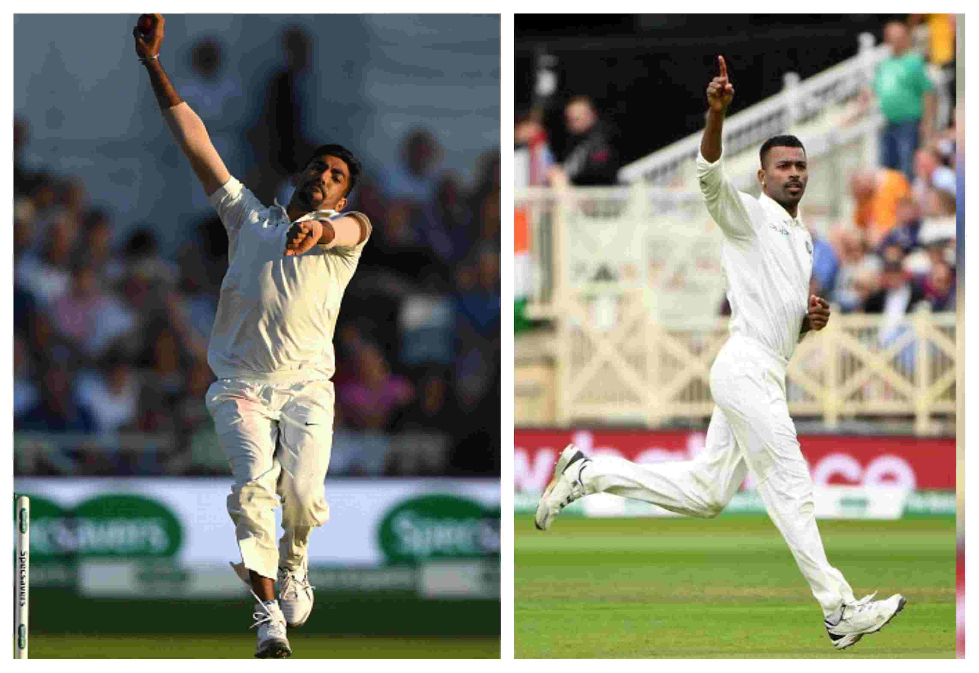 Bumrah and Pandya claimed five-wicket hauls in the Nottingham Test