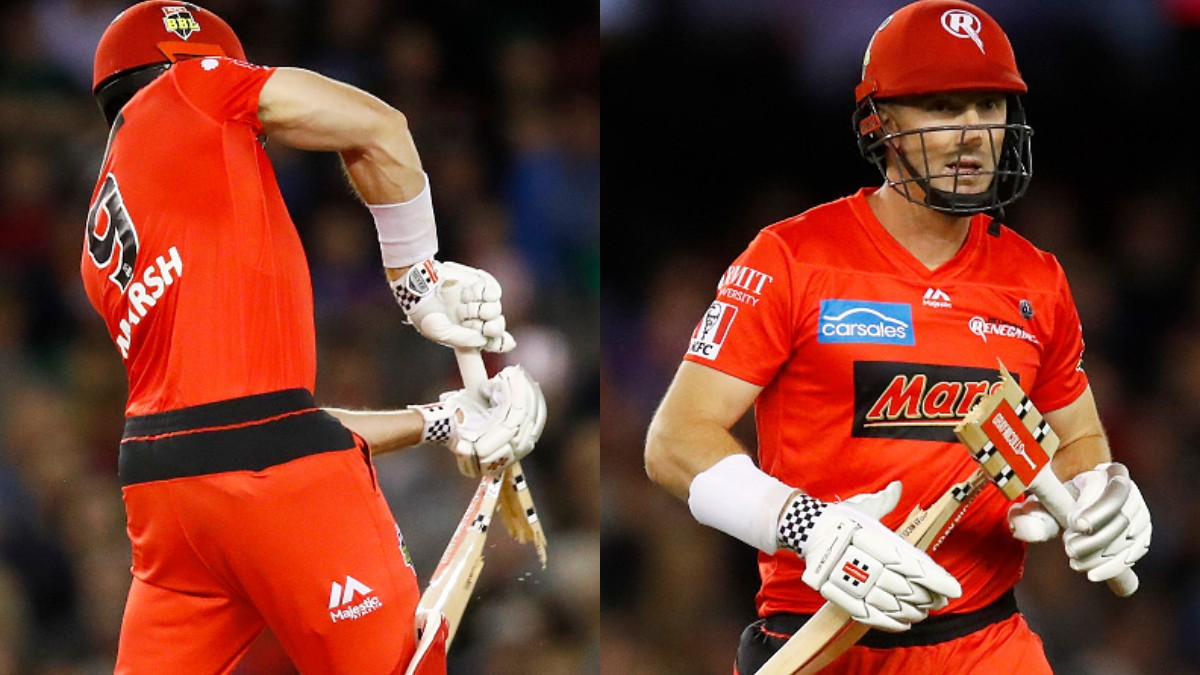 BBL 09: WATCH- Shaun Marsh's bat broken in half by Stars' debutant pacer Lance Morris