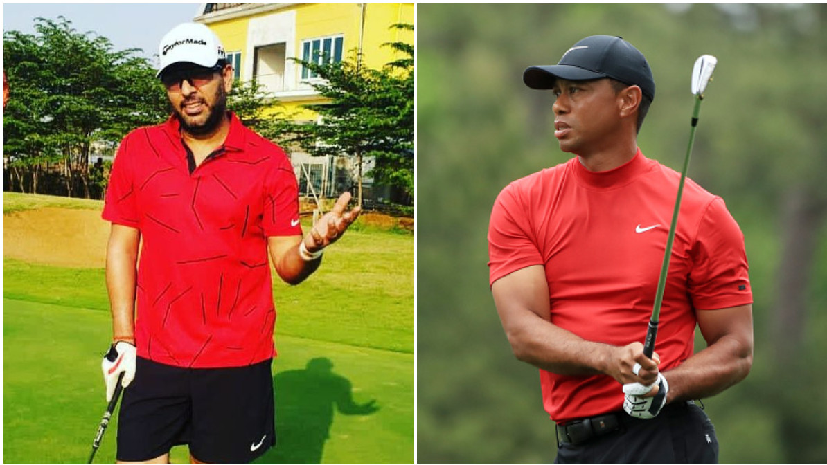 Yuvraj Singh gives Tiger Woods a 'red shirt tribute'; wishes him a speedy recovery post accident