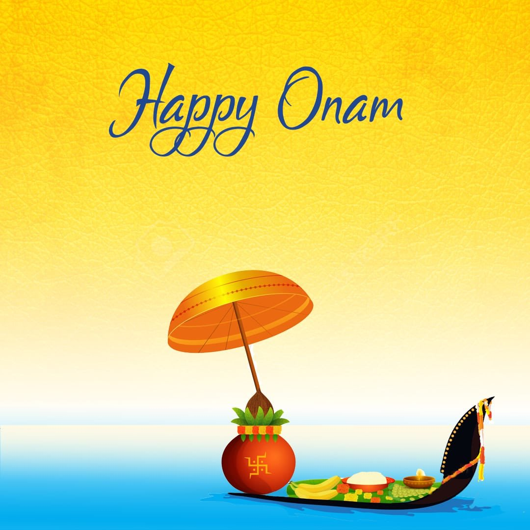 Onam is a big harvest festival celebrated in Kerala
