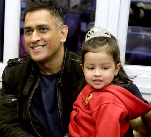 MS Dhoni attends Ziva's first annual day in school