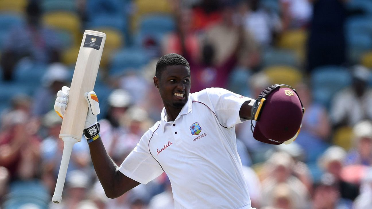 Jason Holder became only the third batsman to score a Test double century from no.8 or lower position