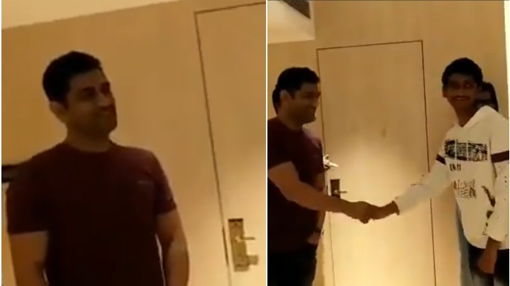 WATCH - MS Dhoni delighted after his fan dedicates a classic Kishore Kumar song to him