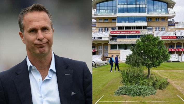 ENG v IND 2021: Michael Vaughan posts a hilarious morphed picture of the pitch ahead of first Test