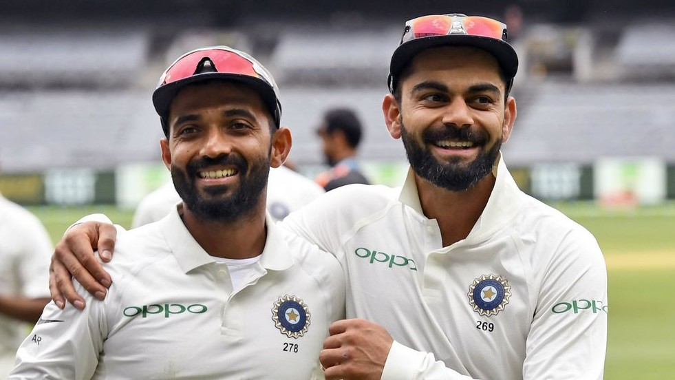 Virat Kohli responds to Ajinkya Rahane's