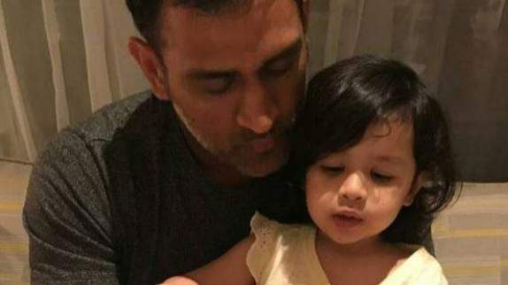 Watch – MS Dhoni does daddy duties for Ziva; after taking CSK to the top of table