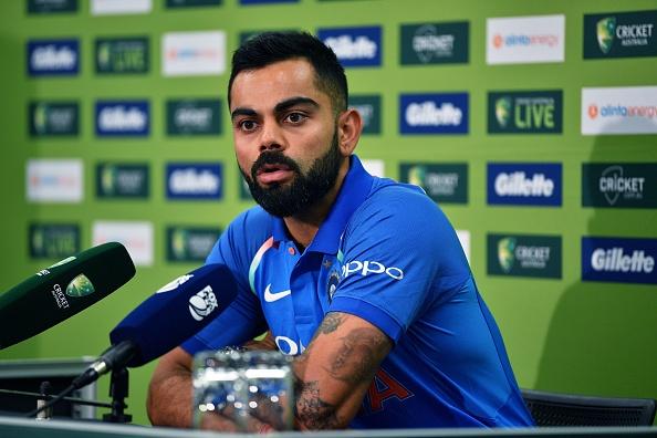 Virat Kohli addresses the media ahead of the first ODI against Australia in Sydney | Getty