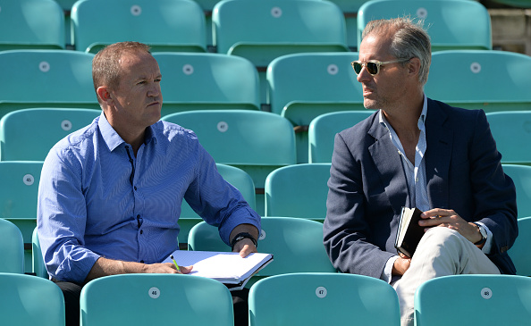 Andy Flower alongside chief selector Ed Smith | Getty