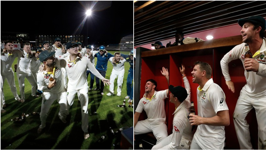 Ashes 2019: WATCH- Australian players sing True Blue, before doing push-ups in celebration after win in Manchester Test