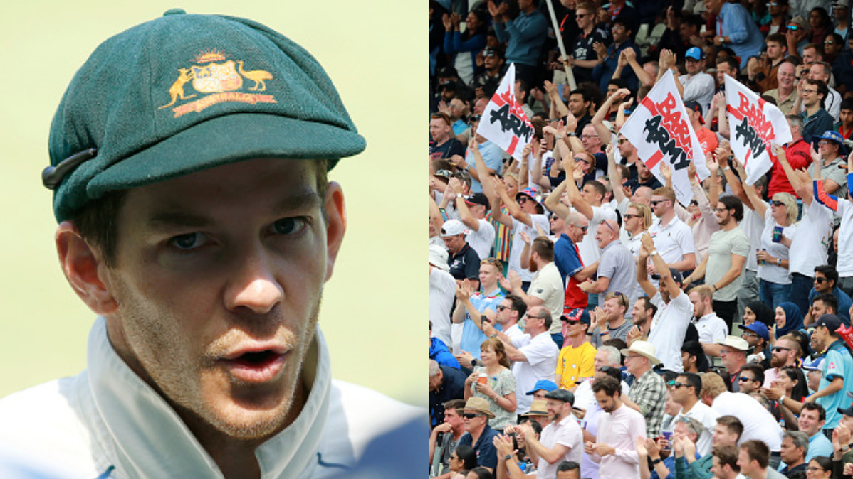 Tim Paine responds to England's Barmy Army's statistical poke; they say