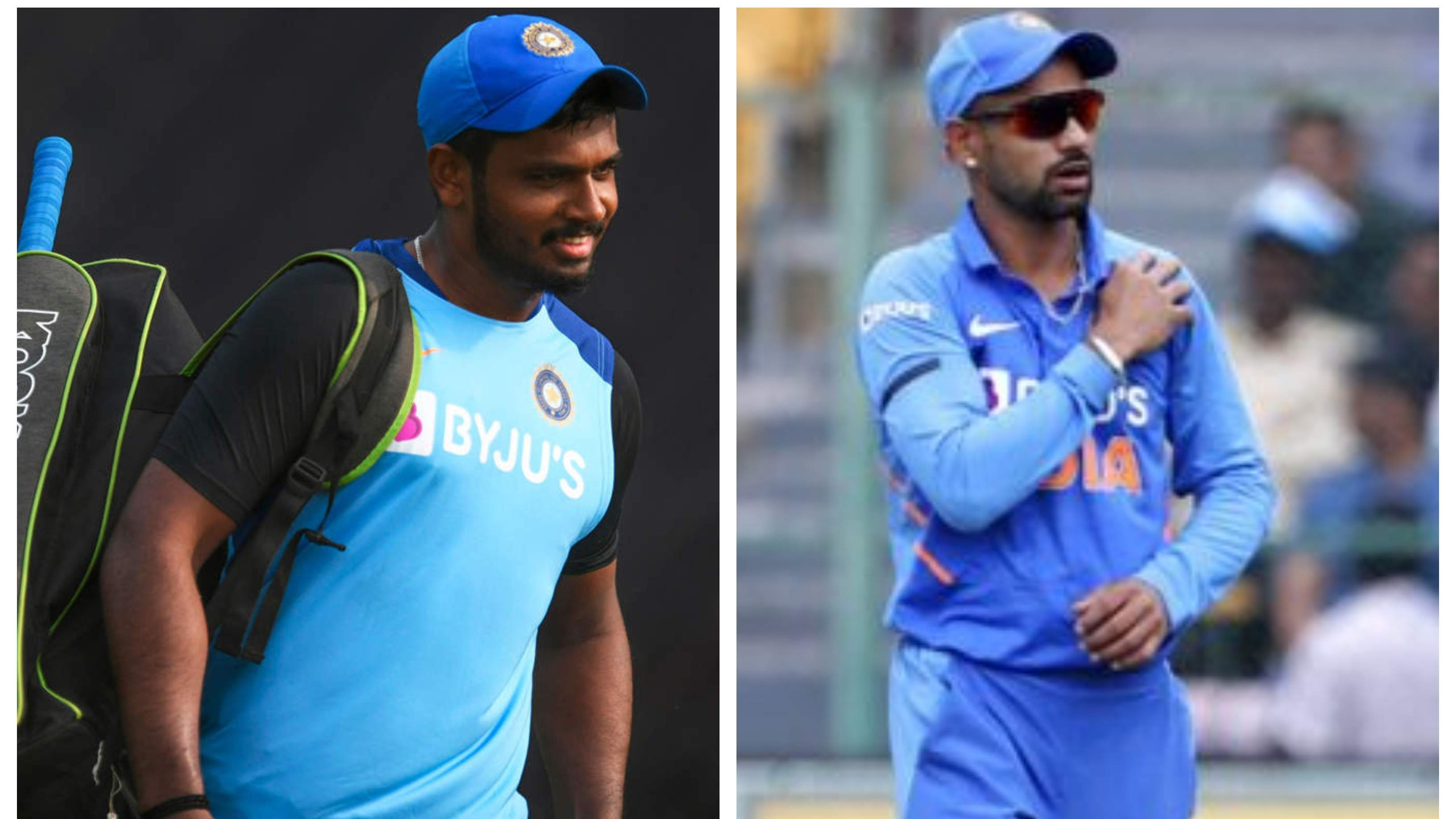 NZ v IND 2020: Sanju Samson replaces injured Shikhar Dhawan in India's T20I squad