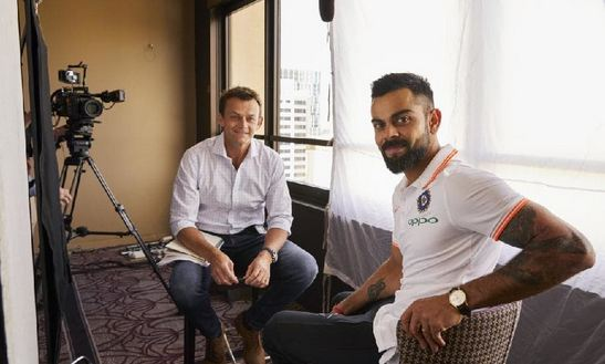 Adam Gilchrist and Virat Kohli in an exclusive interview for FOX cricket