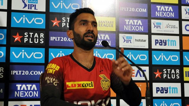 IPL 2018:Drop catches cost us the game, says Dinesh Karthik