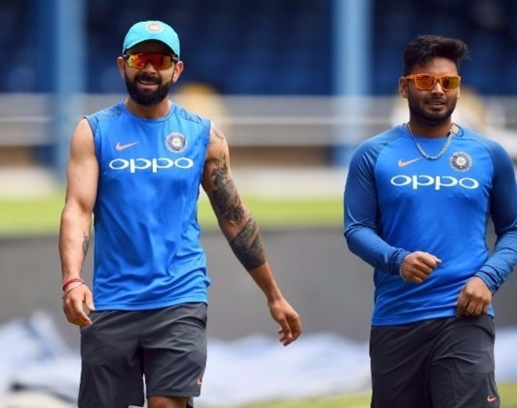 Virat Kohli and Rishabh Pant | AFP