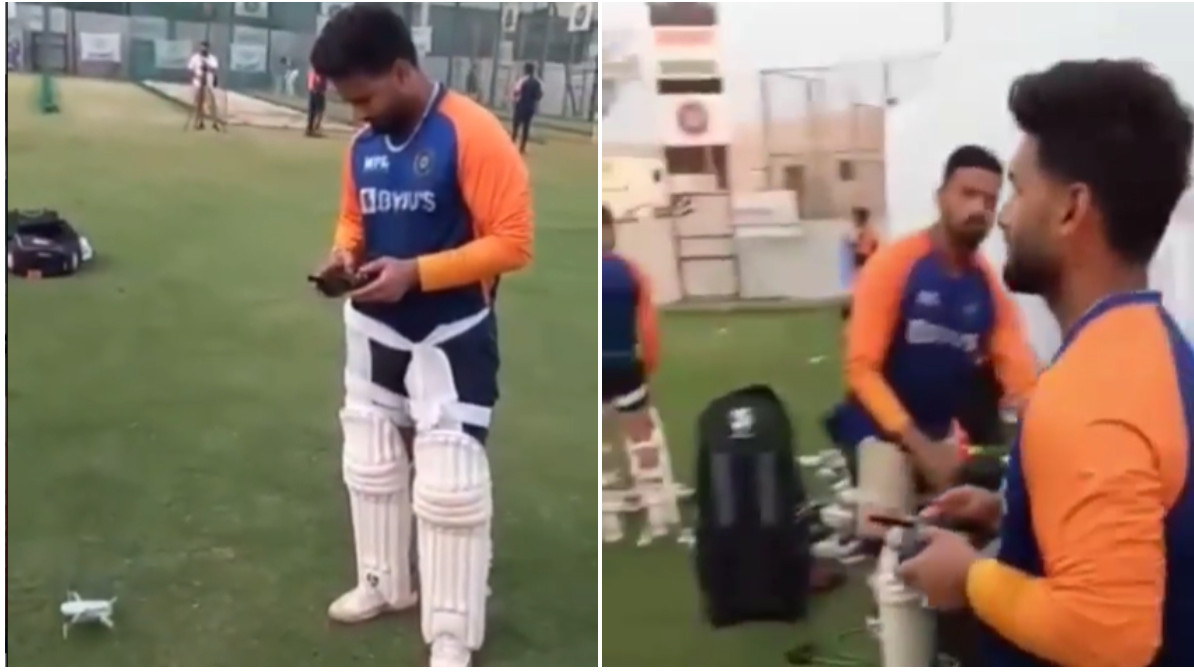 IND v ENG 2021: WATCH - Meet Rishabh Pant's new friend 'Spidey'; gives him new view of the nets
