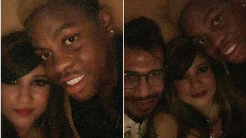 WI v IND 2019: Yuzvendra Chahal joins RCB teammate Shimron Hetmyer and his girlfriend for night out