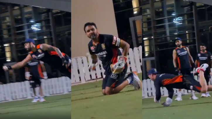 IPL 2020: WATCH - Kohli, De Villiers, and Parthiv flaunt quick reflexes with jaw dropping catches