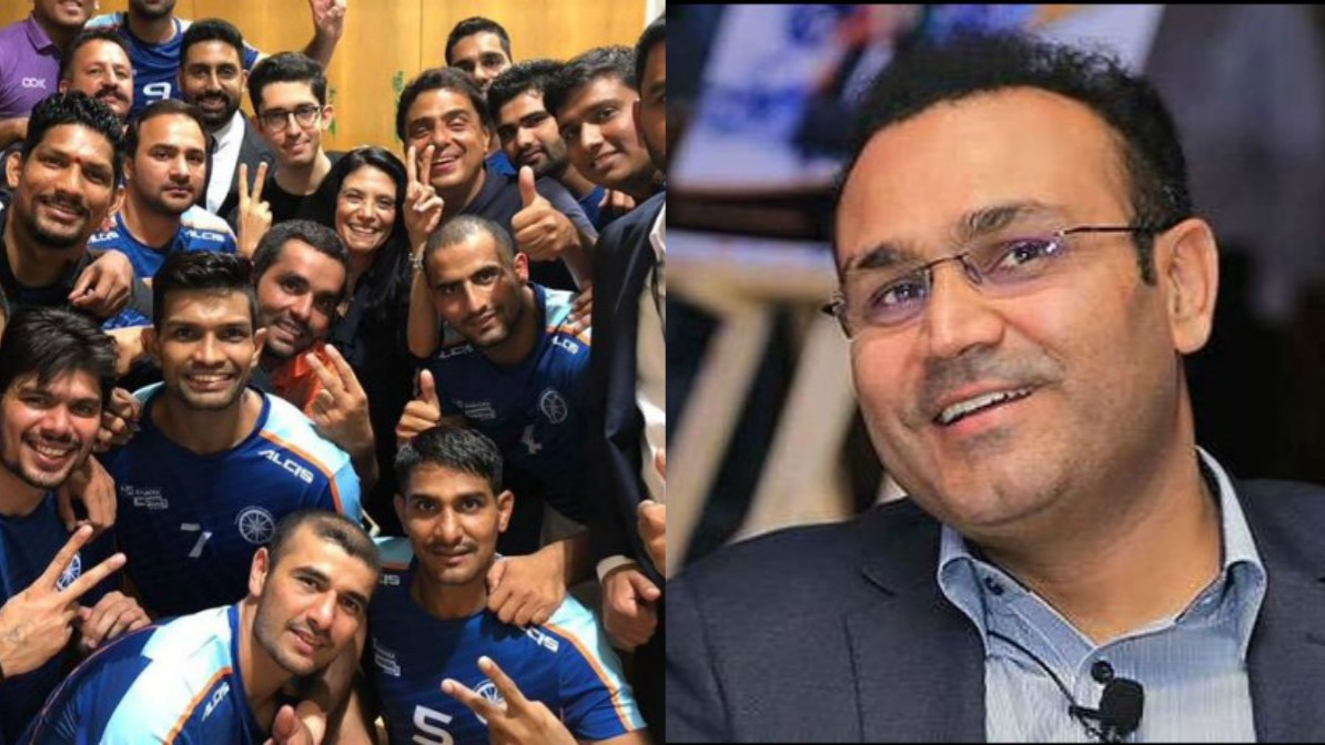 Virender Sehwag congratulates the Indian Kabaddi team for winning Kabaddi Masters title