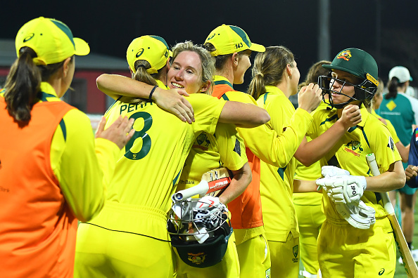 Australia celebrates ODI series win   Getty Images
