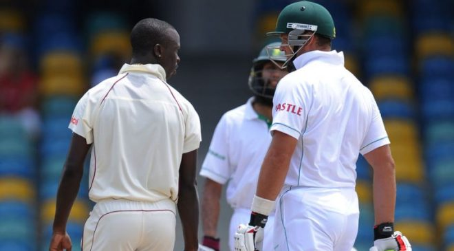 Roach also had an argument with Kallis on the field | AFP