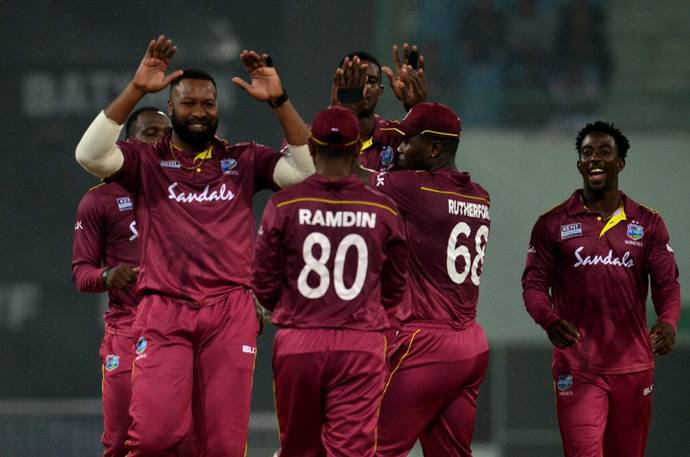 There were three occasions where West Indies bowlers were guilty of overstepping | AFP
