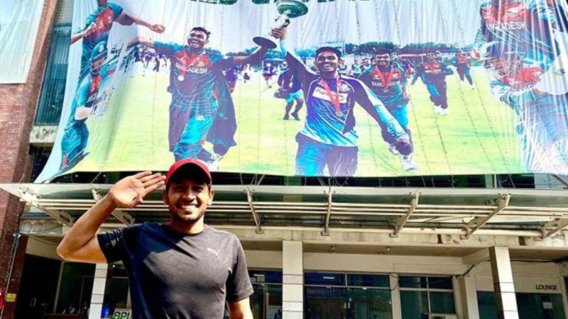 मुशफिकुर रहीम ने अंडर-19 विश्वकप जीतने के बाद बांग्लादेश की टीम को किया सलाम