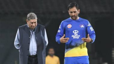 IPL 2018: MS Dhoni reunites with N Srinivasan at the Chepauk in Chennai