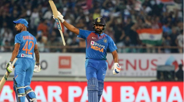 Rohit Sharma hit 43-ball 85 in Rajkot | AP