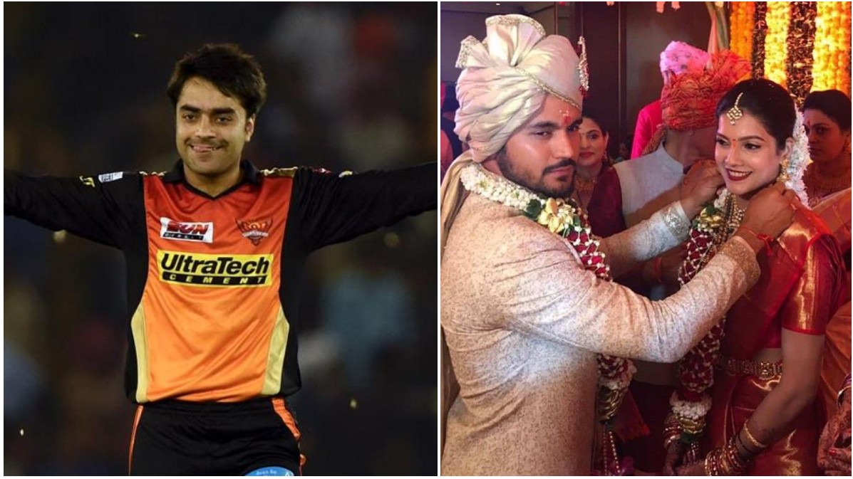 Rashid Khan congratulates Manish Pandey for his wedding and asks,