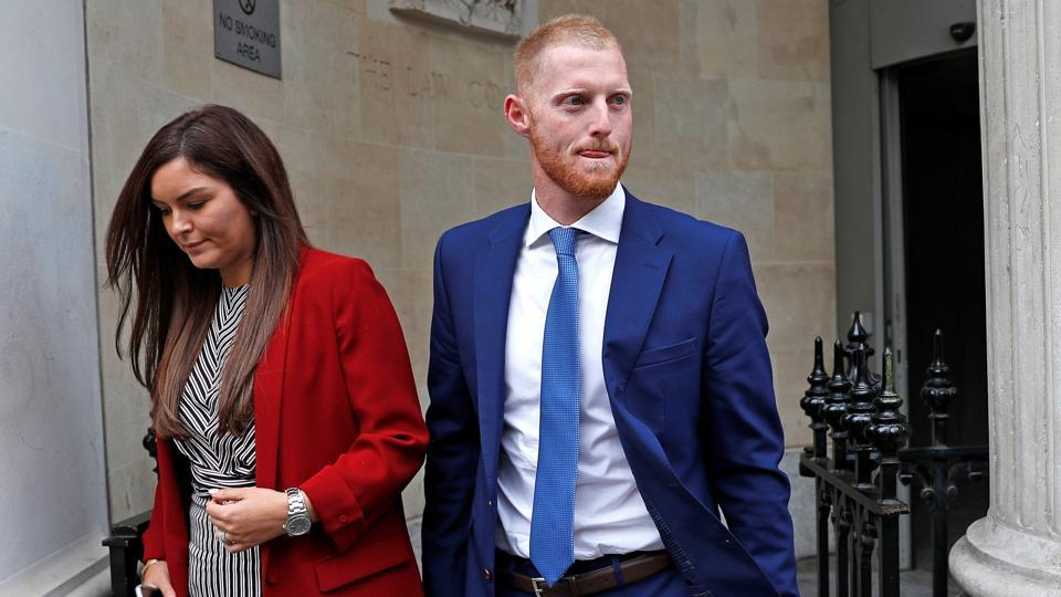 Stokes with his wife after the court hearing on August 9, 2018. (Reuters)