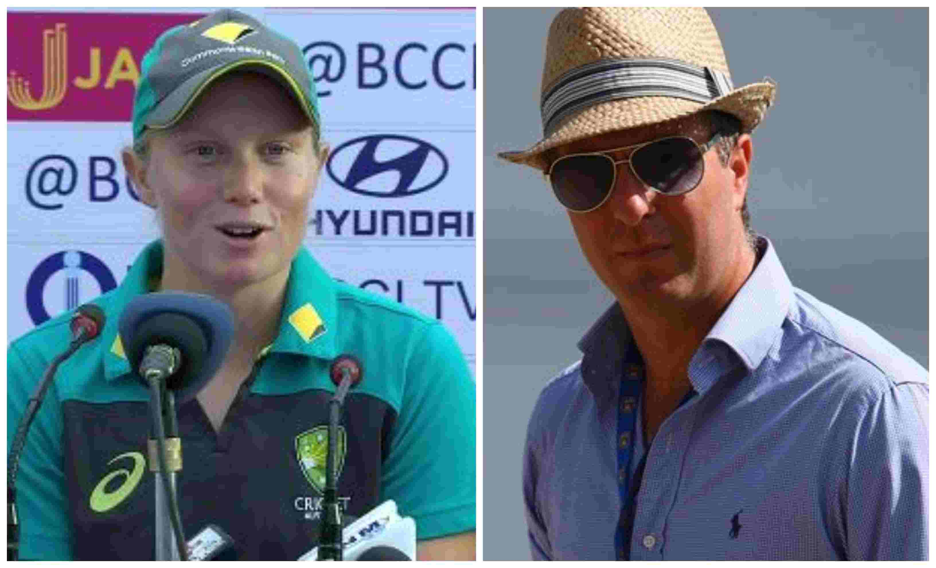 Alyssa Healy and Michael Vaughan