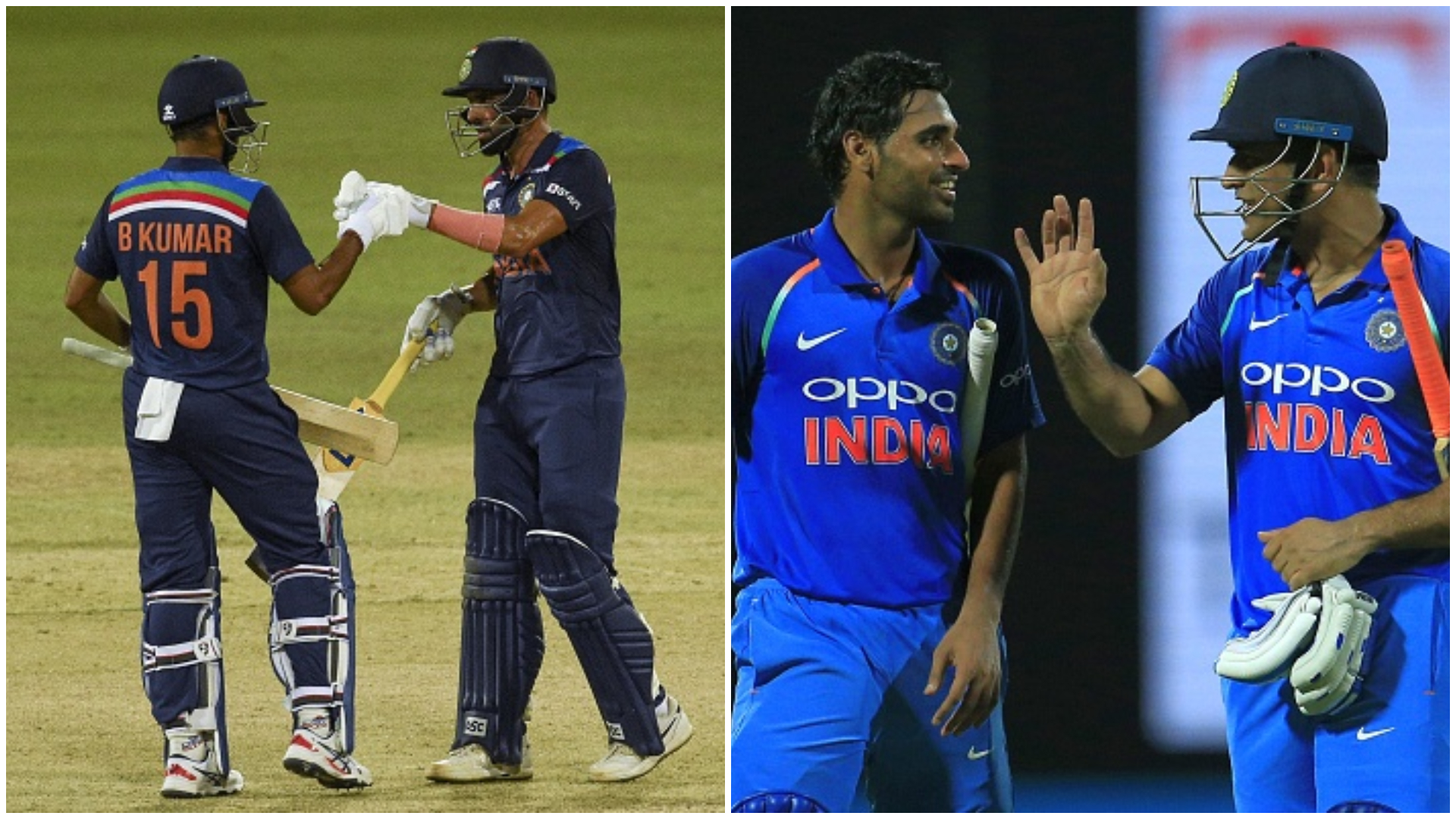 Bhuvi recalls 2017 partnership with MS Dhoni in similar situation against Sri Lanka   Getty