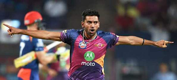 Deepak Chahar played with MS Dhoni for RPS in IPL 2017