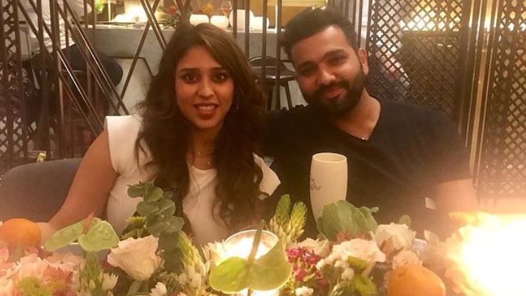 Rohit Sharma posts pictures on wife Ritika's 33rd birthday