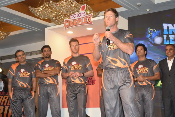 Cricketing legends at the launch of Road Safety World Series | Twitter