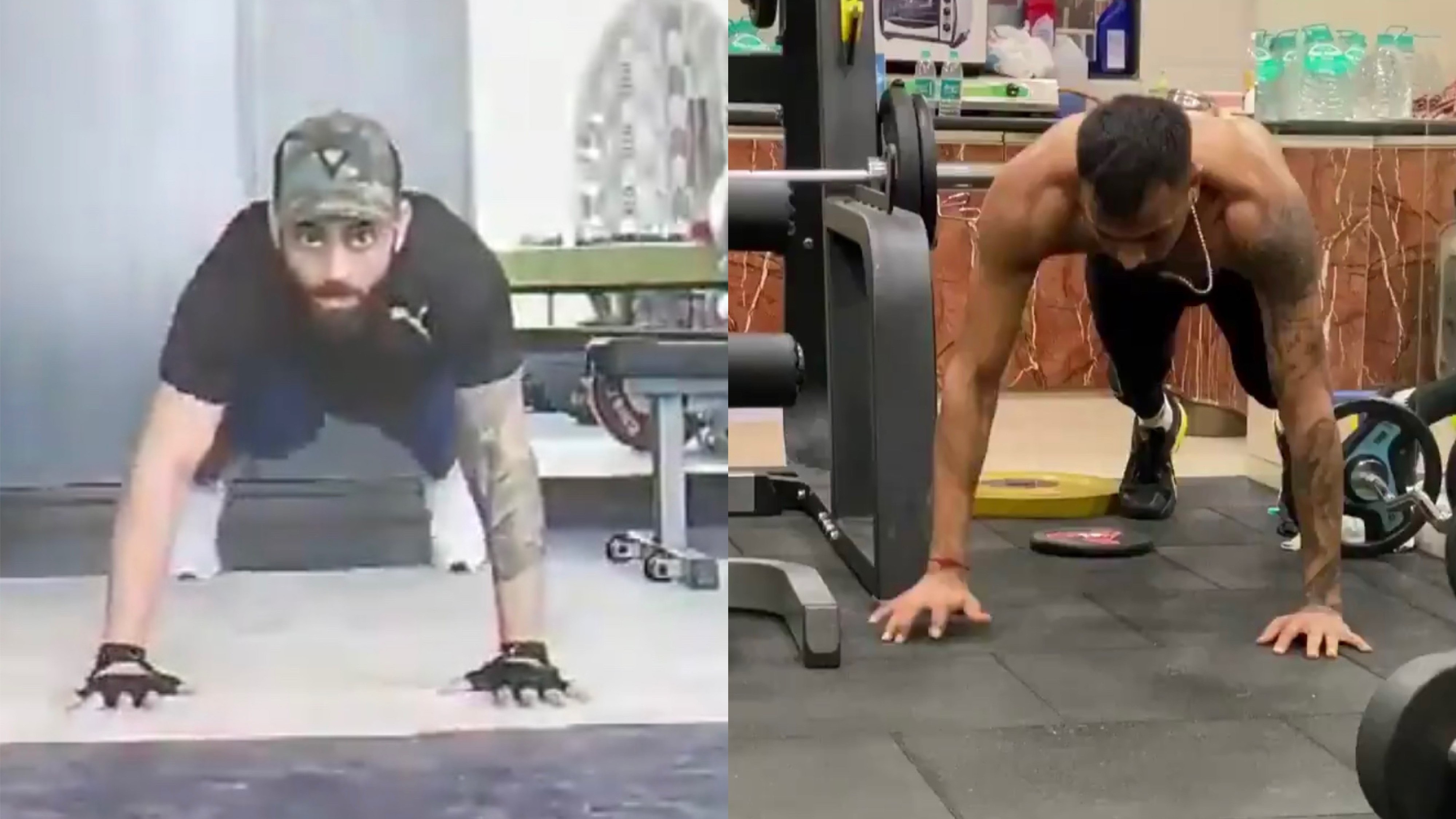 WATCH: Virat Kohli performs Hardik Pandya's 'fly push ups' with a twist