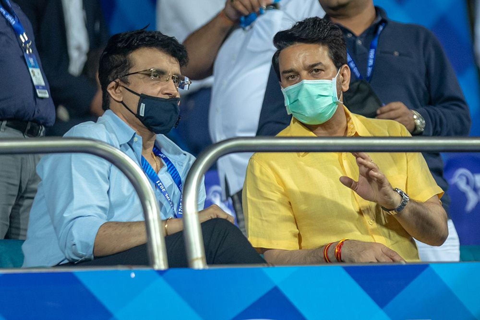 Sourav Ganguly and Anurag Thakur | BCCI/IPL